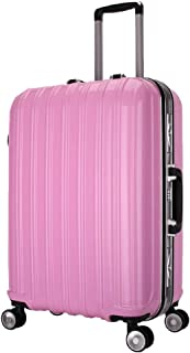 GLJJQMY Trolley Case for Men and Women Suitcase 20-inch Universal Wheel Business Boarding Multi-Color Optional Trolley case (Color : Pink, Size : 20 inch)