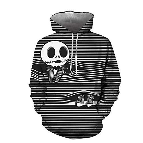 N / A Nueva Pesadilla de Halloween Antes de Navidad 3D impresión Digital con Capucha suéter suéter suéter