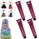 Mermaid Hair Coloring Shampoo,Semi Permanente Suave Seguro No tóxico Fórmula vegetal pura Champú para teñir el cabello Set para la mayoría de las fiestas/festivales/Cosplay (A)