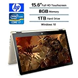 HP Convertible 2-in-1 15.6 inch Touchscreen FHD IPS Laptop (1920 x 1080), Intel Core i7 8550U (Up to 4GHz), 1TB Hard Drive, 8GB Memory, 2GB Radeon 530 Dedicated, Win 10 Home