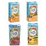 Crystal Light Tea On the Go Variety 4 pack - Raspberry Green Tea, Peach Mango Green Tea, Lemon Iced Tea, Peach Iced Tea