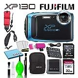 Fujifilm FinePix XP130 Waterproof Digital Camera (Sky Blue) Accessory...