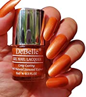 DeBelle Gel Nail Polish Aurora (Amber with Copper Glitter Nail Polish), 8 ml