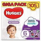 Huggies Ultra Comfort Pannolini Mutandina, Taglia 6 (15-25 Kg), Confezione da 105 Pannolini Mutandina