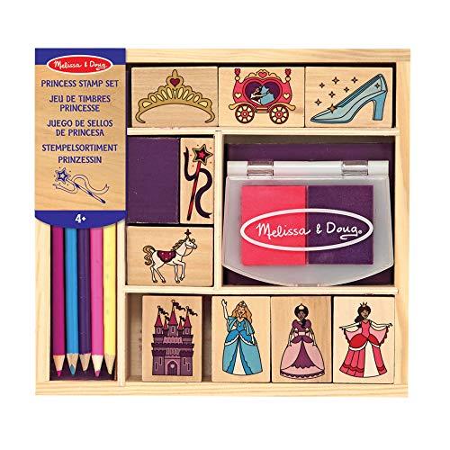 Melissa & Doug |Tampons pour enfants | Jeu de timbres en bois | Princesses