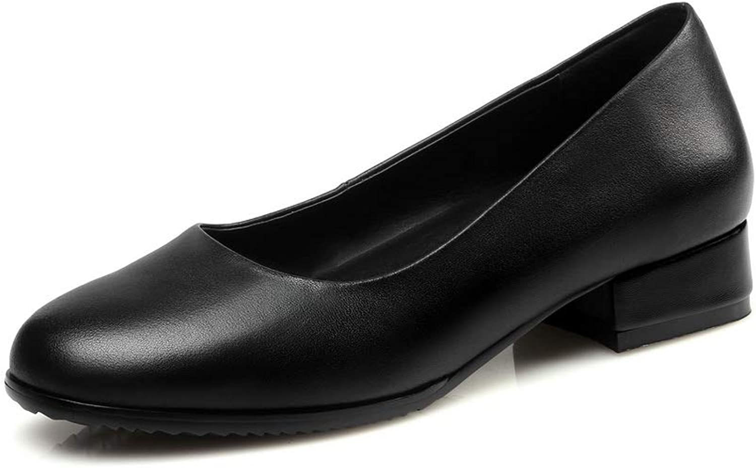 AdeeSu Womens Structured Solid Business Urethane Pumps shoes SDC06166