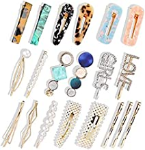 WOOKIT Pearls Hair Clips Candy Colors Handmade Fashion Hair Accessories for Women Girls
