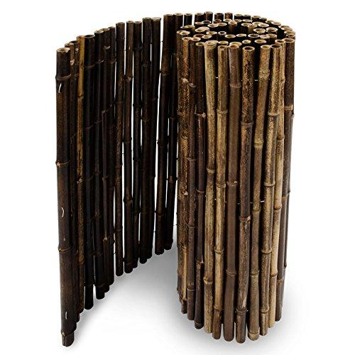 casa pura Frangivista in canne Naturali di Bamboo Nero | 150x250 cm