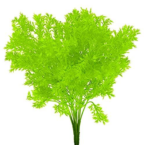 Rekkles Künstliche Plastikblumen-Blätter Zweig Naturgetreue Petersilie Blumenhauptdekoration Foto Props