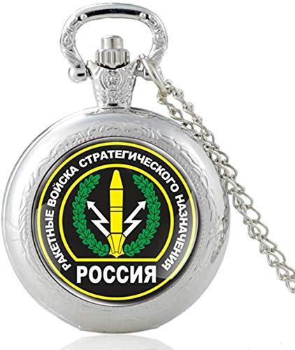 Reloj de bolsillo de cuarzo Vintage con diseño de fuerza de cohete ruso, reloj con colgante de encanto, collar de cúpula de cristal para hombres y mujeres clásicos