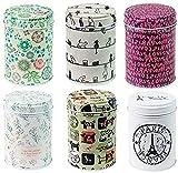 xshelley Retro doble para hogar cocina almacenamiento contenedores colorido latas redondas latas de...