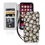 野球のテーマ Iphone11スマホケース 手帳型 レザー 財布型 ワイヤレス充電可能 マグネット式 ……