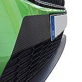 P063 - Lámina para faldón frontal, parachoques, color negro y carbono, años 2012 – 2019, prefacelift + Facelift (3M negro brillante)
