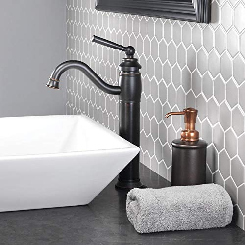 Jacuzzi Abri Oil Rubbed Bronze 1-Handle Vessel WaterSense Bathroom Sink Faucet with Drain 72-BVF11-BB-J