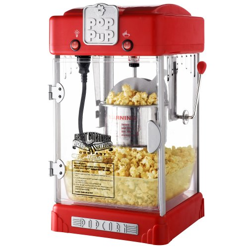 Product Image 8: Great Northern Popcorn 83-DT5622 Northern Machine Pop Pup 2-1/2oz Retro Style Popcorn Popper, 2.5 ounce, Red