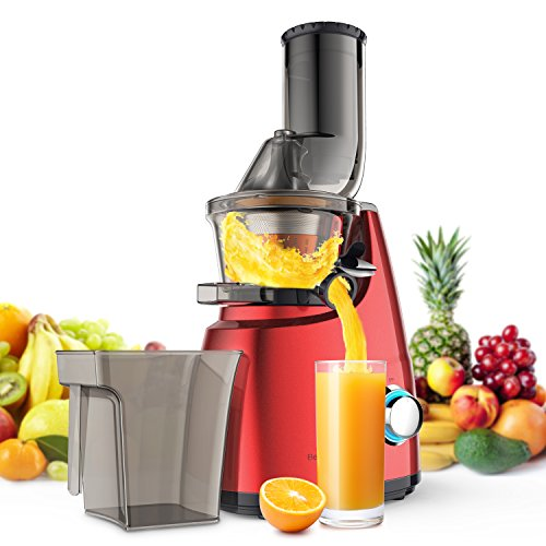 Elechomes Slow Masticating Juicer Extractor Cold Press Juicer Machine for High Nutrient Fruit and Vegetable Juicer with Wide Chute Anti-Oxidation Lower Noisy,CJ201