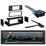 Kenwood Digital Media Bluetooth USB AUX SiriusXM Ready Car Stereo Receiver with Metra Dash Kit Compatible with GM Truck and Van 95-05, Metra Radio Wiring Harness and Metra Antenna Adapter