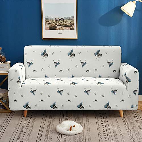 CC.Stars Sofahusse,Couch husse,Sofabezug,Sofaüberwurf,3D-Sofabezüge, Rutschfester elastischer Stretch-Sofabezug für Wohnzimmer-Sofabezug L-Form-SF 038_1-Sitz 90-140 cm