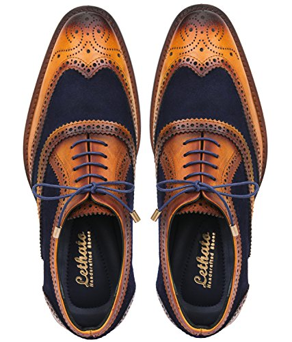 Lethato Wingtip Brogue Oxford – Navy Blue , Navy Blue , 10.5 – 11 US