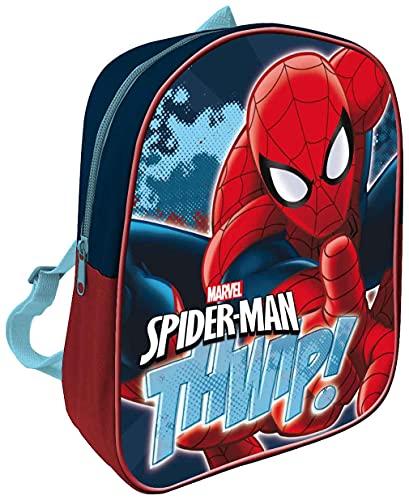Zaino per bambini Zainetto Asilo Infanzia per la Scuola e tempo libero con chiusura lampo (Spiderman)