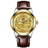 Los Hombres de Moda Miran los Relojes de Oro de los Hombres de Las Mejores Marcas Prueba de Agua Reloj de dragón de Cuarzo de Acero Completo Masculino 2020 Masculino Reloj Hombre
