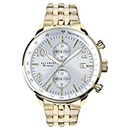 Push Button Deployment Clasp 50m Water Resistant 1 second Chronograph timing up to 1 hour Clear Date Window Display Showcasing distinctive style, this Accurist Men's Chronograph features a gold stainless steel bracelet with matching case, enclosing a...