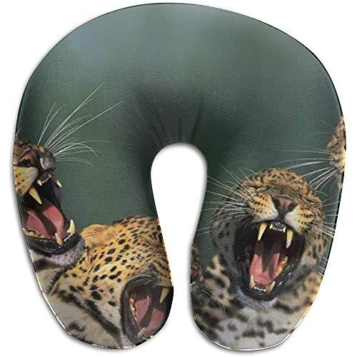 Hao-shop Alpargatas con Estampado de aullidos de Leopardo Almohada Tipo Cuello de...