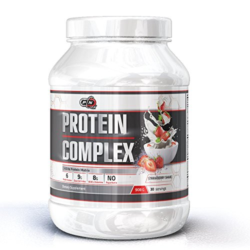 WHEY Protein Complex|Elite Multi Component All in One Protein Matrix|6 Protein Sources|Milk Egg Micellar Casein Whey, Whey Isolate & Hydrolysate|9g Essential Aminos|8g BCAA(Strawberry Milkshake,908g)