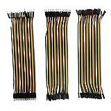 240 piezas de cable Jumper 2 x 40 hembra – hembra; 2 x 40 machos; 2 x 40 machos; 20 cm / 8 pulgadas;