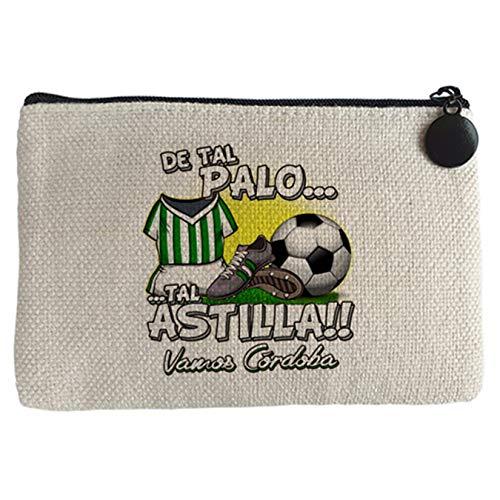 Diver Bebé Monedero De tal palo tal astilla Córdoba fútbol - Beige, 15 x 10 cm