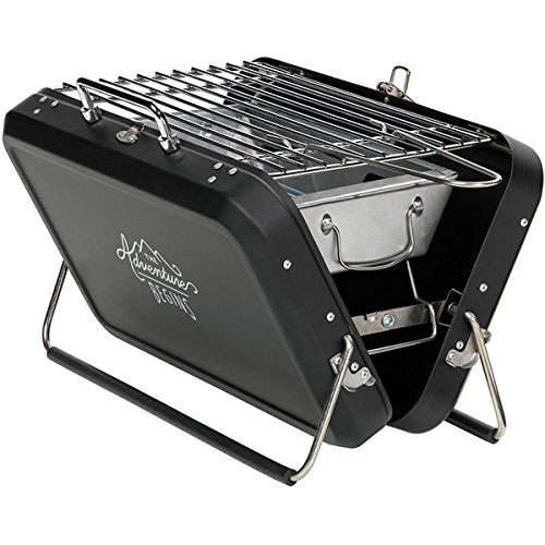 Gentlemen's Hardware Portable Suitcase Style Barbecue - Cleverly disguised as a suitcase,