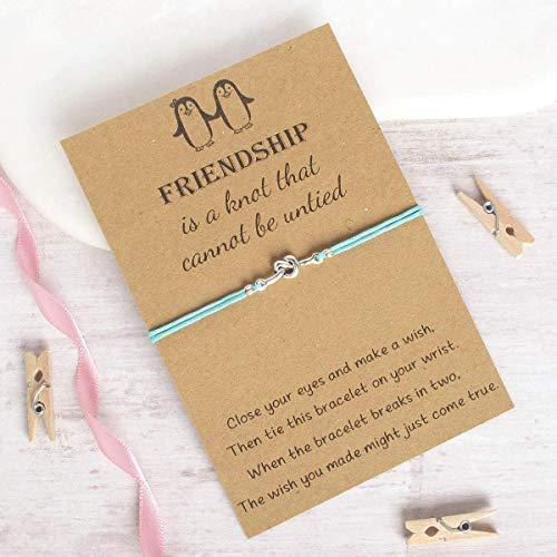 friendship knot wish bracelet, friendship bracelet, cord bracelet, charm bracelet, christmas gift idea, string bracelet, best friend jewelry jewellery, gift idea for her