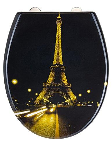 Eisl WC Sitz PARIS NIGHT, Duroplast, mit Absenkautomatik und Schnellverschluss, Motiv, ED69PNIGHT