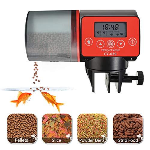 Futterautomat Aquarium, Automatisierte Futterspender, 200ml Kapazität Automatisierte Futterspender Mit LCD Display Geeignet und Digitaler Timer