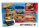 Hot Wheels Pack de 10 vehículos, coches de juguete (modelos surtidos)...