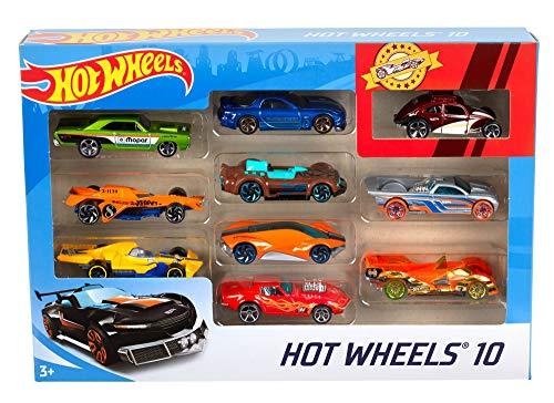 bon comparatif Lot de 10 Hot Wheels, jouets pour enfants, voitures miniatures, maquettes… un avis de 2021