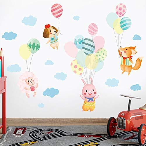 Schattige Ballon Muurstickers Kinderkamer Wanddecoratie Meisjeskamer Stickers Kleuterschool Klas lay-out Cartoon Stickers