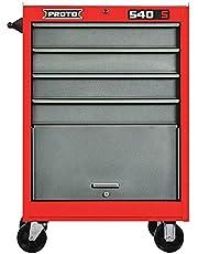 Proto–J542742–4RD–Kırmızı Rolling dolabı, 540S, WIDTHX3A; 68,6cm DEPTHX3A; 45,7cm HEIGHTX3A; 106,7cm