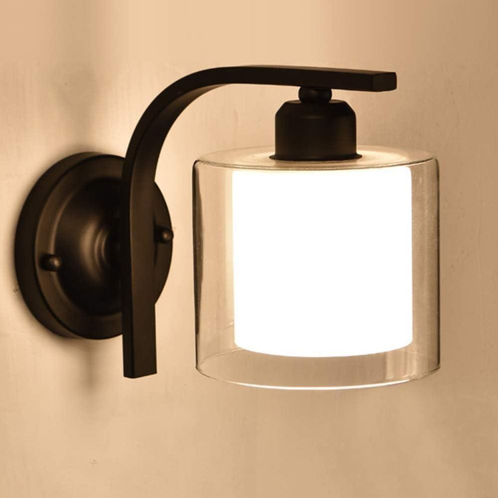 YANG1MN Creative Personality Retro Wall Glass Lamp Wro High order Lampshade New product!!