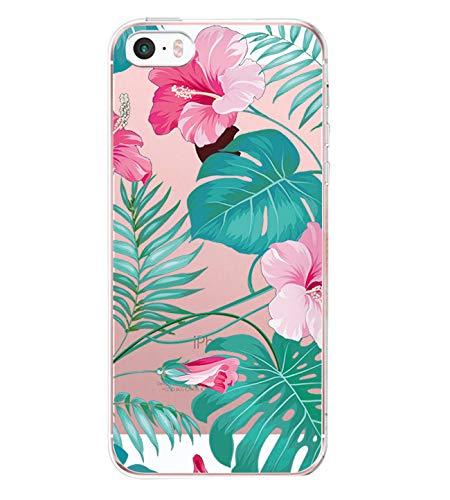 Teryei Coque iPhone 5 / 5S / SE, Silicone TPU Souple Housse 360 degrés Protection [Ultra Mince] Transparent Anti-égratignures Case Anti-Scrach Bumper pour iPhone 5 / 5S / SE (4)