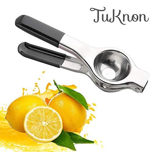 TUKNON Zitronenpresse Edelstahl Manuelle Saftpresse Entsafter Zitronenclip Zitruspresse Handentsafter für Zitronensaft
