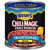 BUSH'S BEST Canned Chili Magic Chili Beans Starter Traditional Recipe (Pack of 12), Source of Plant Based Protein and Fiber, Low Fat, Gluten Free, 15.5 oz