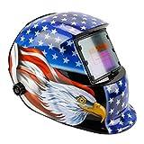 Geelife Solar Powered Welding Helmet Auto Darkening Hood with Adjustable Shade Range 4/9-1...