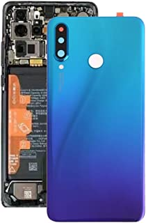 Huawei Spare Parts Battery Back Cover with Camera Lens for Huawei P30 Lite (48MP) (Color : Twilight Blue)