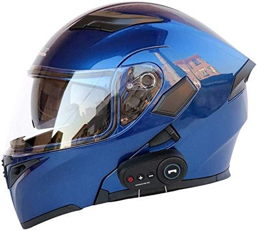 EBAYIN Cascos modulares Cascos Moto Bluetooth Dot ECE Casco Bluetooth,Casco Integral para Jóvenes para Hombres y Mujeres,Sistema Comunicación Modular para Casco de Motocicleta,D-XXL=(63~64cm)