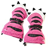 Veyo Kids - Pink Tiger Paw Mittyz - Waterproof Kids Mittens | Toddler Gloves | Easy on, Stay on, | Perfect for Snow Skiing, Sledding, and Winter Play (Small 6 Months - 2 Years)