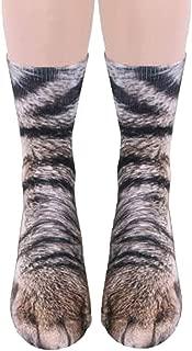 Unisex Novelty Animal Paw Hoof 3D Print Paws OMOVII Crew Socks for Men Women Big Kids - Sublimation Printing
