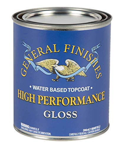 General Finishes High Performance Water Based Topcoat, 1 Quart, Gloss