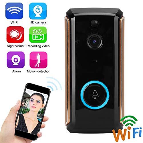 1080P HD Wifi Video-Türklingel, Überwachungskamera-Türklingel mit Bewegungserkennung, kabellose WLAN-Verbindung, App-Fernbedienung, einfache Installation, geringer Stromverbrauch(3)