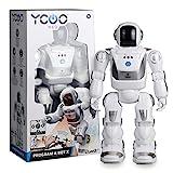 Ycoo by Silverlit - Program a BOT X, Robot Teledirigido Programable, 40 cm - 48 Acciones Programables - Sensores de Movimiento - Efectos sonoros y Luminosos.